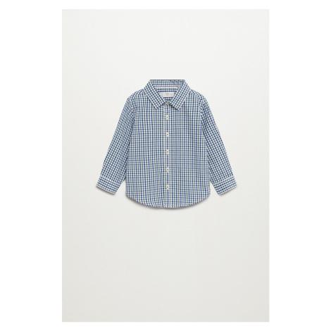 Mango Kids - Detská bavlnená košeľa Checks 80-104 cm