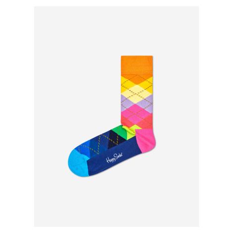 Argyle Ponožky Happy Socks Farebná