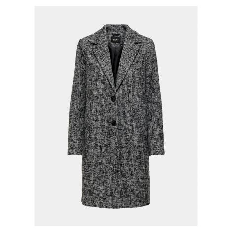 Šedý žíhaný kabát ONLY