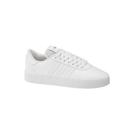 Biele tenisky Adidas Court Bold na platforme