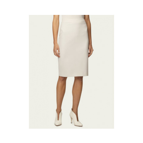 Boss Puzdrová sukňa Vinoa1 50432874 Biela Slim Fit Hugo Boss