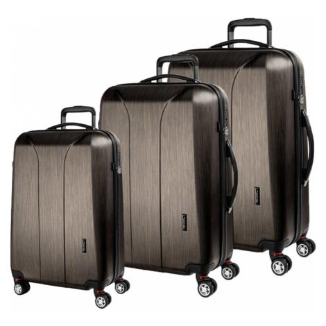March Sada cestovních kufrů New Carat SE S + M + L, bronzová