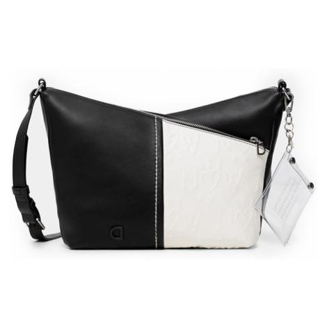 Desigual čierno-biela crossbody kabelka Bols Katya Harry Mini