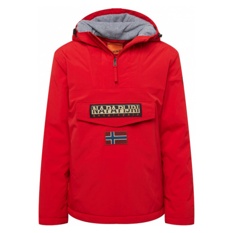 NAPAPIJRI Prechodná bunda 'RAINFOREST'  červená / čierna / béžová