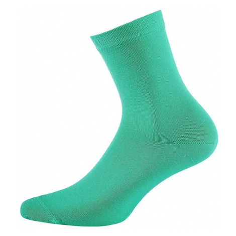 Detské ponožky hladké jednofarebné tyrkysová Wola