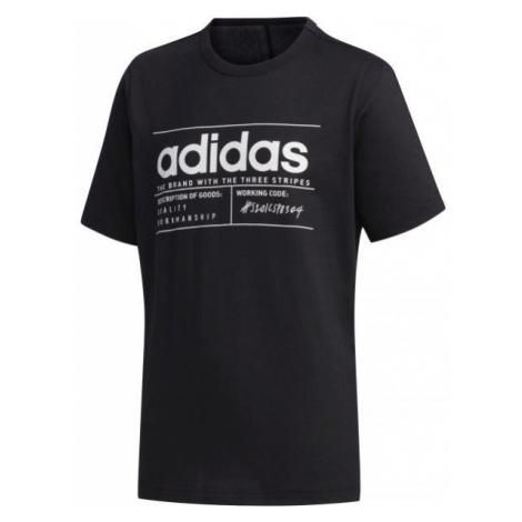 adidas YB BB T čierna - Chlapčenské tričko