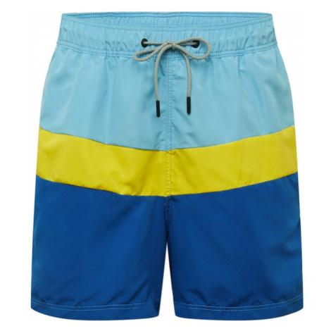 JACK & JONES Plavecké šortky  žltá / modrá