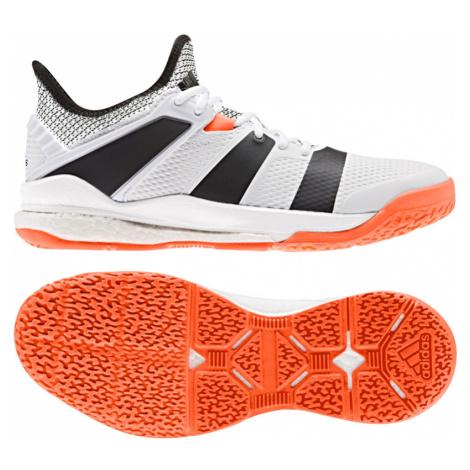 Pánska halová obuv adidas Stabil X White/Orange