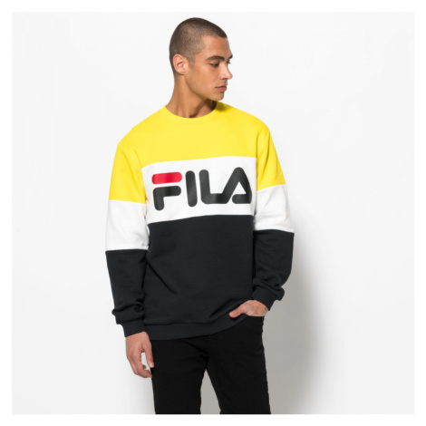 Žlto-biele tričko Straight blocked Fila