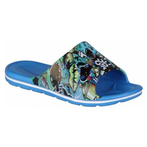 Coqui PRINTED modrá - Detské šľapky