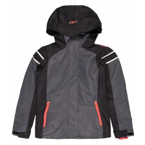 CMP Športová bunda  grafitová / antracitová / biela / koralová
