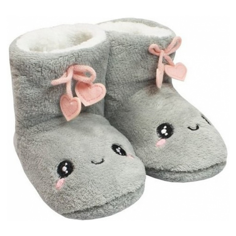 Naf naf teplá domáca obuv šedá