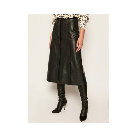 Sportmax Code Kožená sukňa Gerusia 74060106 Čierna Regular Fit