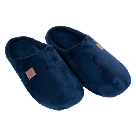 Yoclub Man's Men's Velour Slip-on Slippers OKL-0058F-1900 Navy Blue