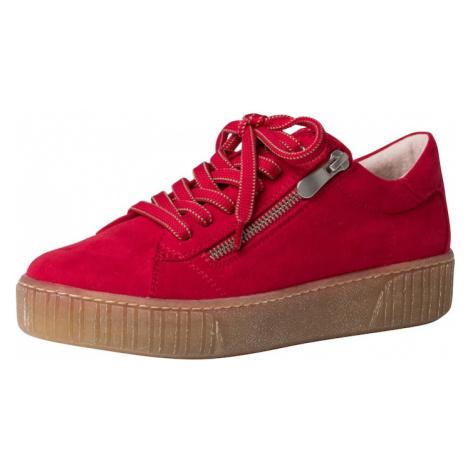 MARCO TOZZI Šnurovacie topánky  červená
