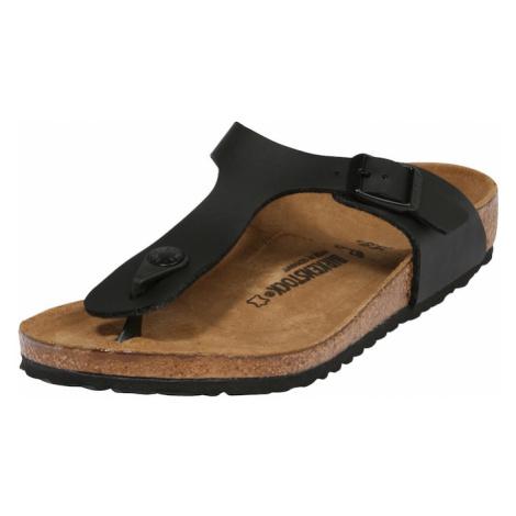 BIRKENSTOCK Otvorená obuv 'Gizeh'  čierna