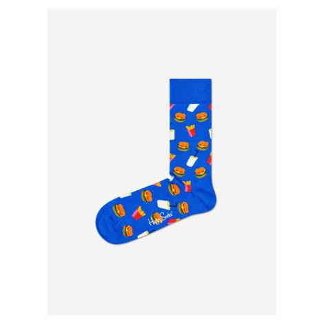 Hamburger Ponožky Happy Socks Modrá