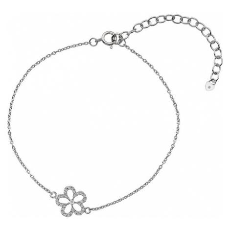 Hot Diamonds Strieborný náramok s pravým diamantom Daisy DL579