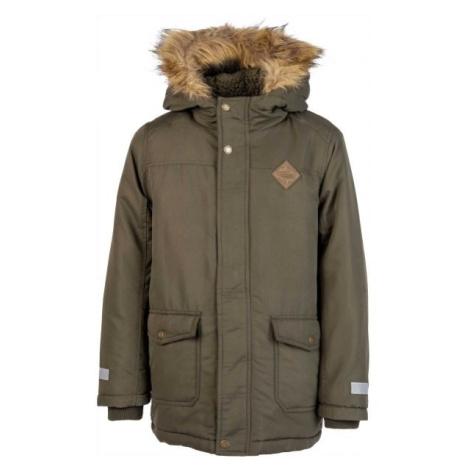 Lewro ARTUR zelená - Chlapčenský zimný kabát