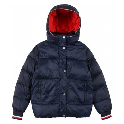 TOMMY HILFIGER Zimná bunda  námornícka modrá / biela / červená