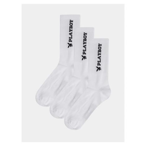 Sada troch párov bielych ponožiek Jack & Jones Playboy