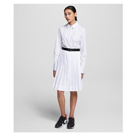 Šaty Karl Lagerfeld Shirt Dress W/ Logo Belt