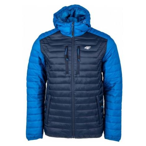 4F MEN´S JACKET tmavo modrá - Pánska bunda