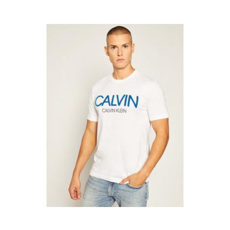 Calvin Klein Tričko Shadow Logo K10K105569 Biela Regular Fit
