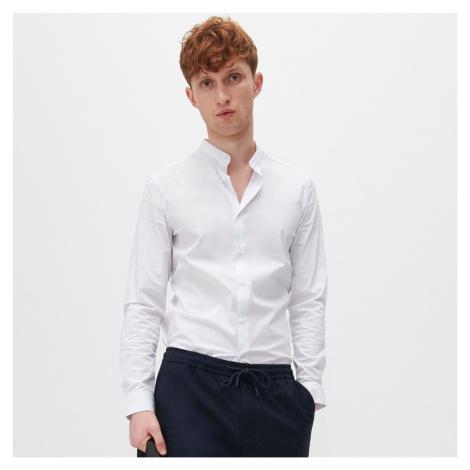 Reserved - Košeľa super slim fit so stojačikom - Biela