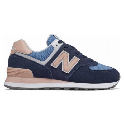 New Balance WL574WND tmavo modrá - Dámska vychádzková obuv