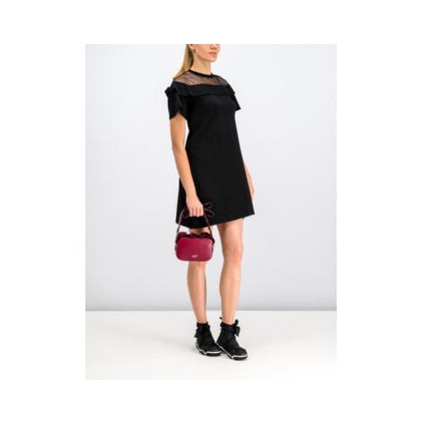 Red Valentino Úpletové šaty SR3KDA73 Čierna Regular Fit