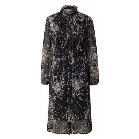 SAINT TROPEZ Košeľové šaty  tmavomodrá / zmiešané farby