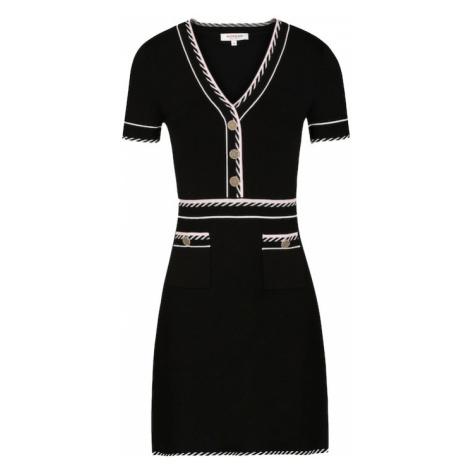 Morgan Pletené šaty 'RMROSE'  čierna / biela