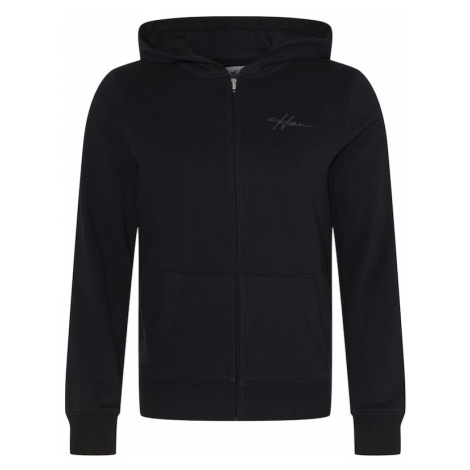 HOLLISTER Tepláková bunda  čierna