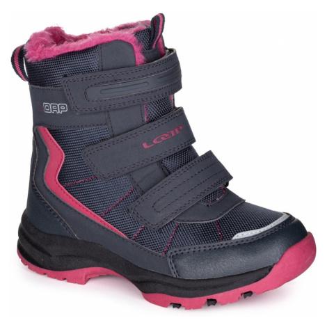 Čierne dievčenské zimné topánky LOAP