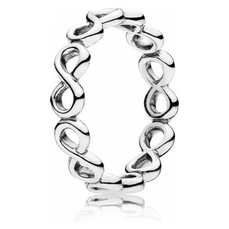 Pandora Strieborný prsteň Nekonečno 60 mm