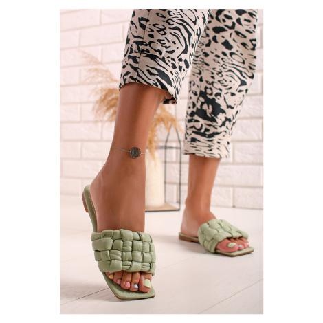 Zelené nízke šľapky Edna Sergio Todzi