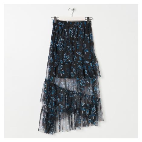 Sinsay - Asymetrická sukňa s volánmi - Viacfarebná