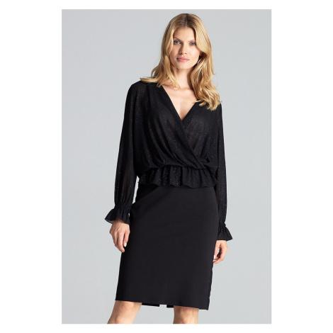 Čierna sukňa M688 Figl