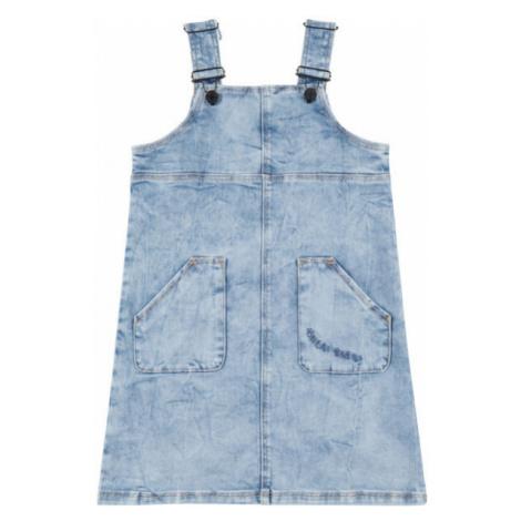 O'Neill LG LILLY DUNGAREE DRESS modrá - Dievčenské džínsové šaty šaty