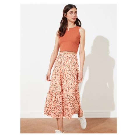 Plisované a volánové sukne Trendyol