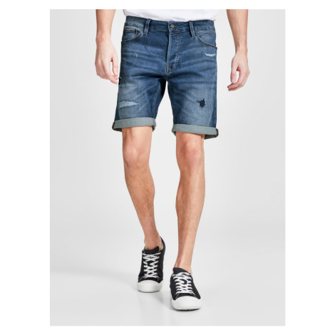 Dark Blue Denim Regular Fit Shorts Jack & Jones Rick