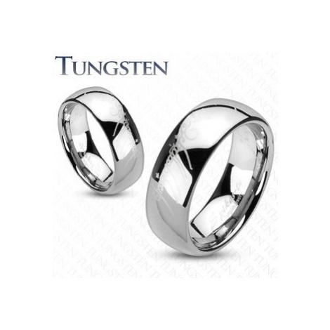 Tungstenový prsteň - obrúčka, hladký lesklý povrch, motív Pána prsteňov, 8 mm - Veľkosť: 67 mm