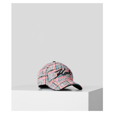 Šiltovka Karl Lagerfeld Signature Tweed Cap