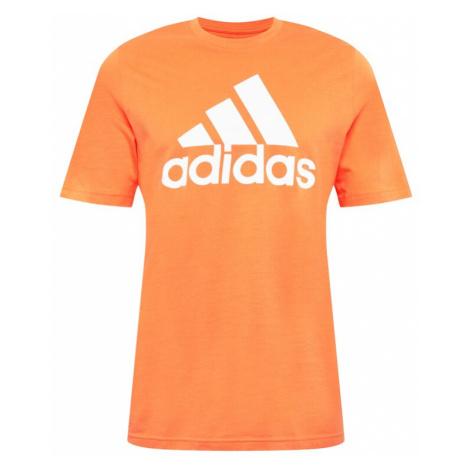 ADIDAS PERFORMANCE Funkčné tričko  oranžová / biela