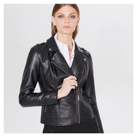 Mohito - Motorkárska bunda z imitácie kože - Čierna