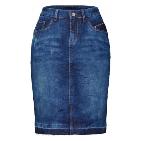 Cream Sukňa 'Patched denim Skirt'  modrá denim