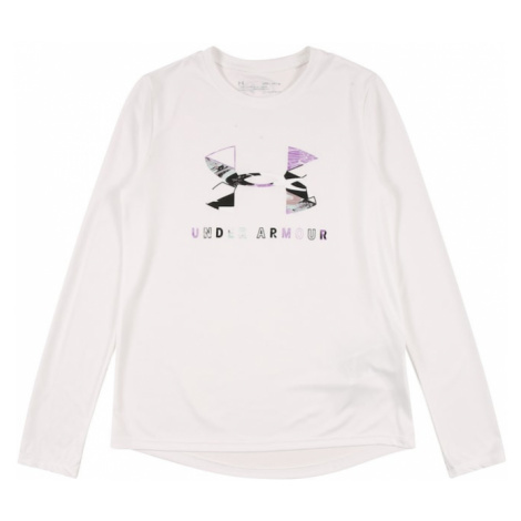 UNDER ARMOUR Funkčné tričko  šedobiela / svetlofialová / čierna / svetlohnedá / opálová