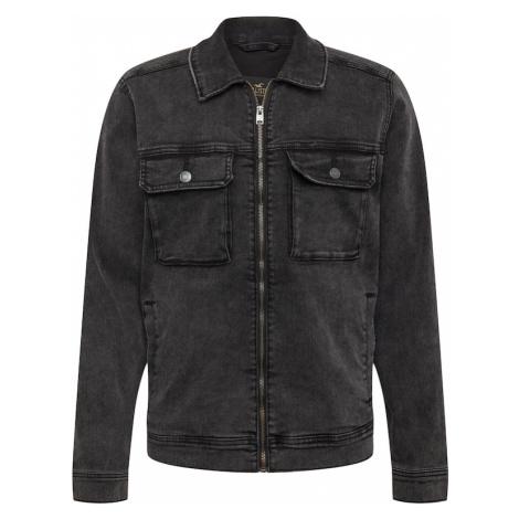 HOLLISTER Prechodná bunda  čierna / biela / ohnivo červená / béžová
