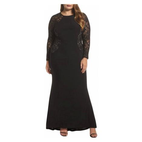 Dlhé plus size šaty - čierne
